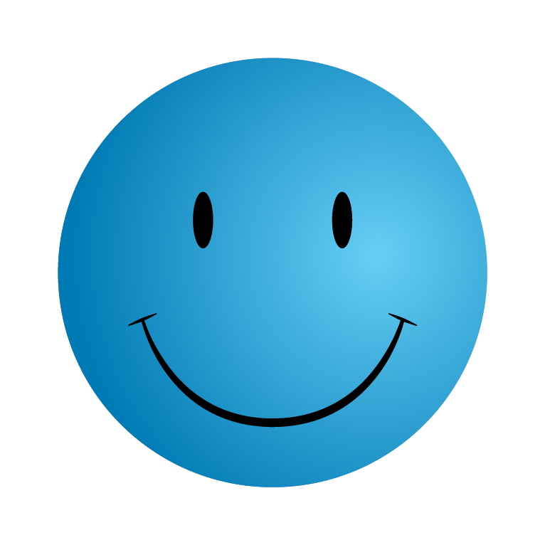 766x766 Blue Smiley Face Clipart