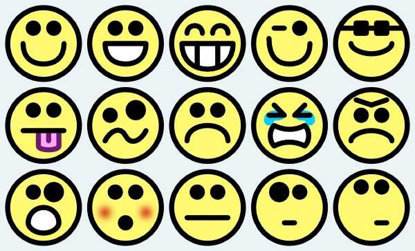 600x363 smiley face emotions on emoji faces clip art and scared face on