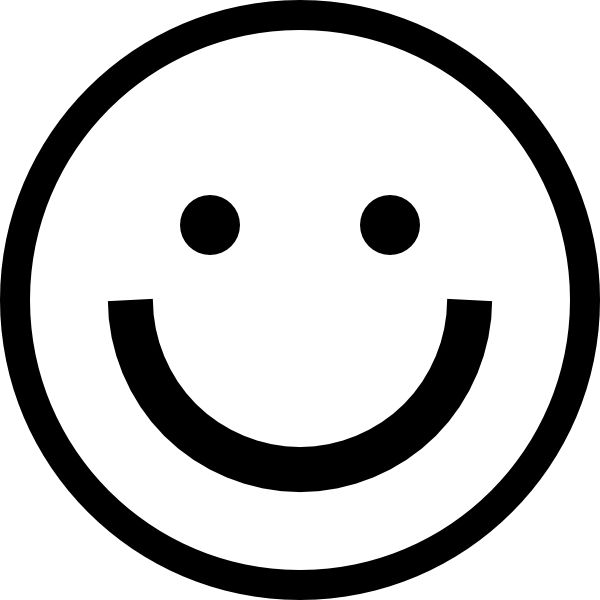 Smiley Face Clipart Black And White