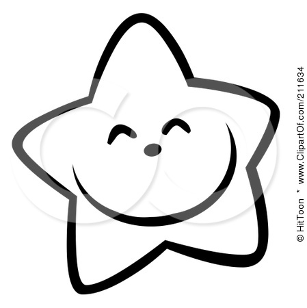 449x450 Happy Star Clipart Black And White
