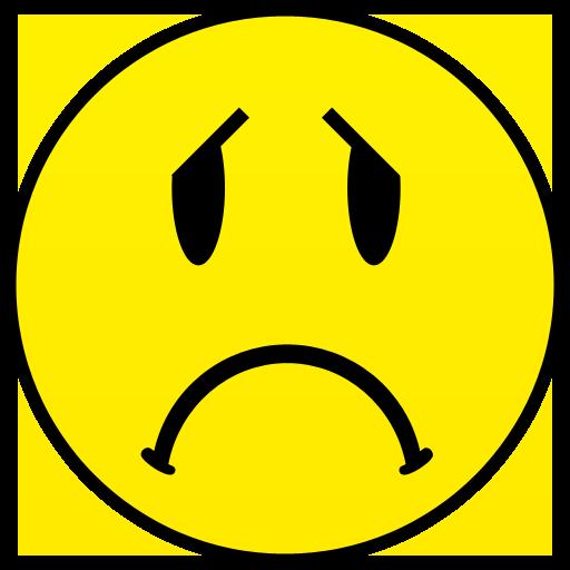 512x512 Sad Face Clip Art