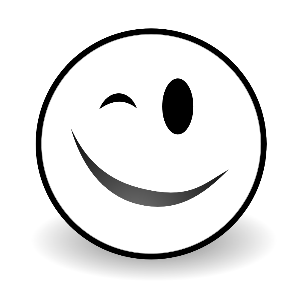 Smiley Face Clipart Black And White   Free download on ...