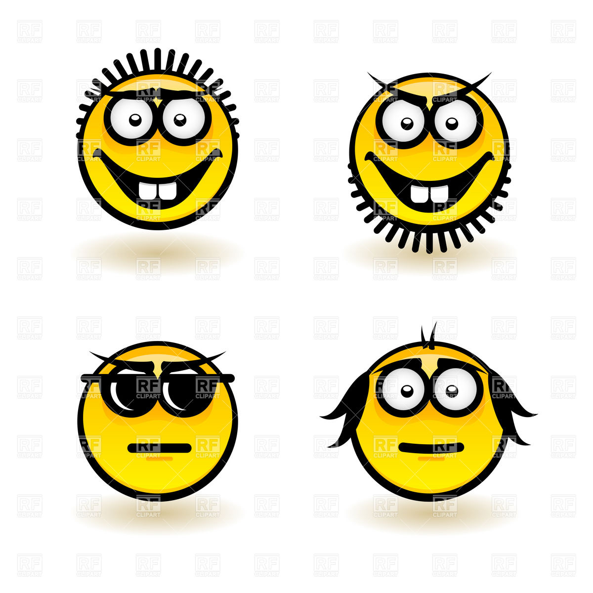 1200x1200 Smiley Face Icons With Emotions