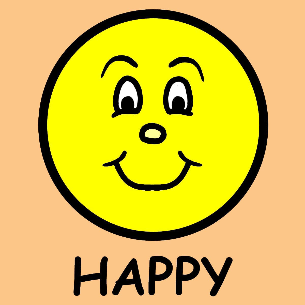 1200x1200 Free Happy Face Clipart Image
