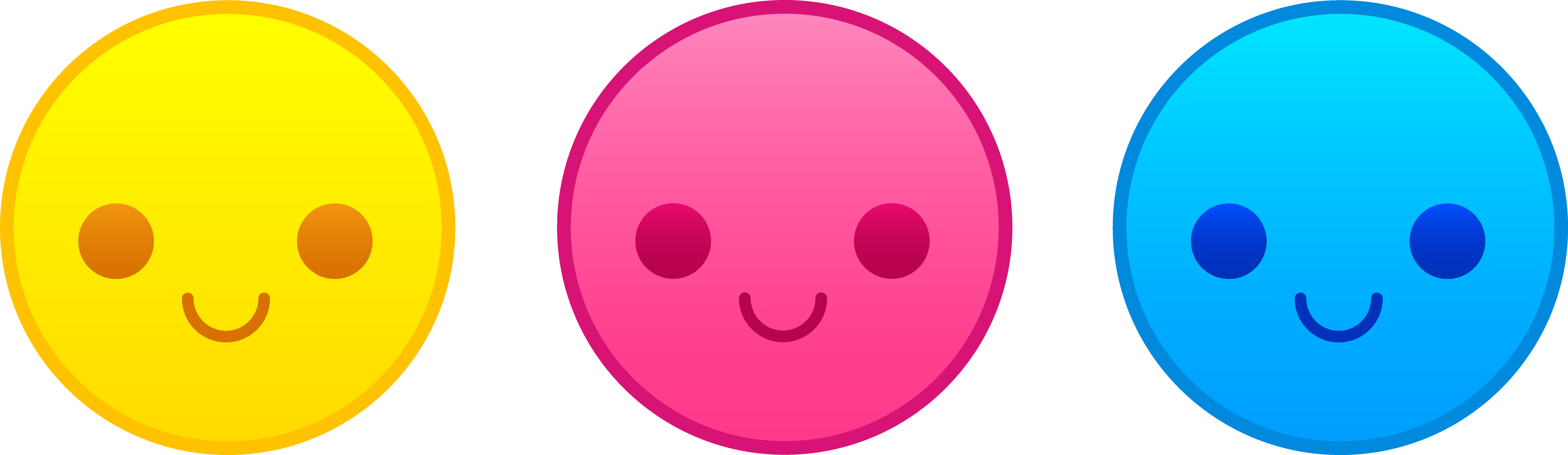 9039x2626 Free Clip Art Smiley Faces Emotions