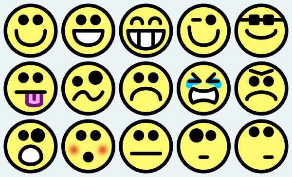 600x363 Smiley Faces Clipart