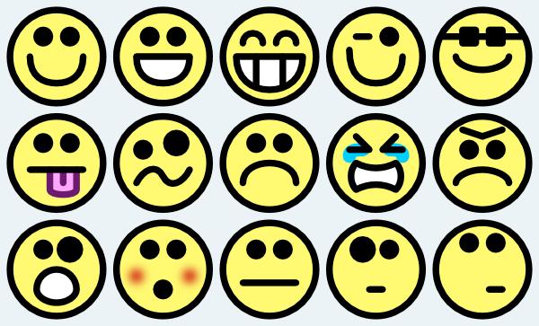 600x363 Smiley Faces Clipart