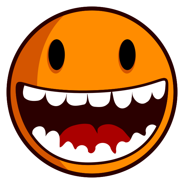 600x600 Excited Smiley Face Clipart