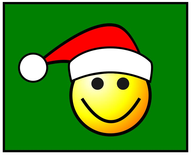 775x627 How To Draw A Santa Smiley Face In The Free Vector Drawing Program