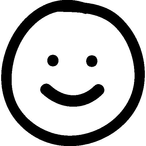 512x512 Smile Hand Drawn Emoticon