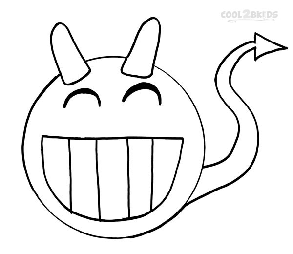 600x520 Smiley Face Coloring Pages