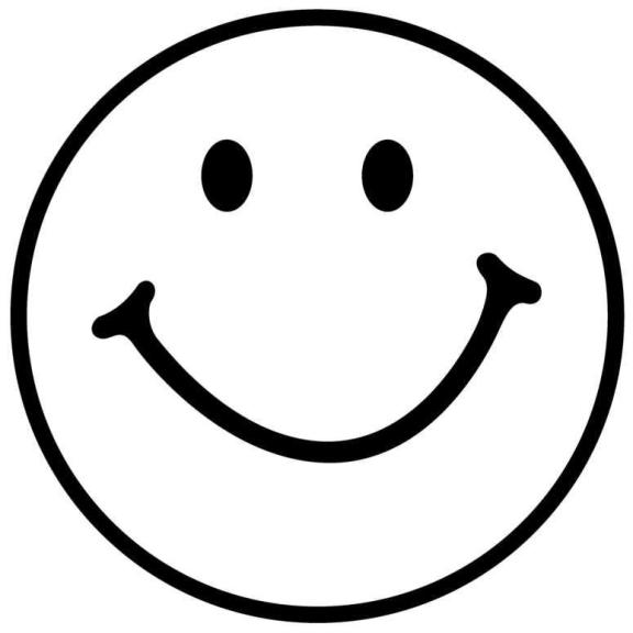 576x576 White Smiley Face Clipart