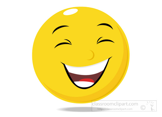 550x400 Emotions Clipart Smiley Face Character Laughing Expression