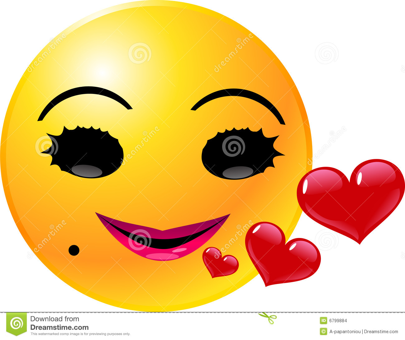 1300x1093 Emoticon Smiley Face Love Royalty Free Stock Images