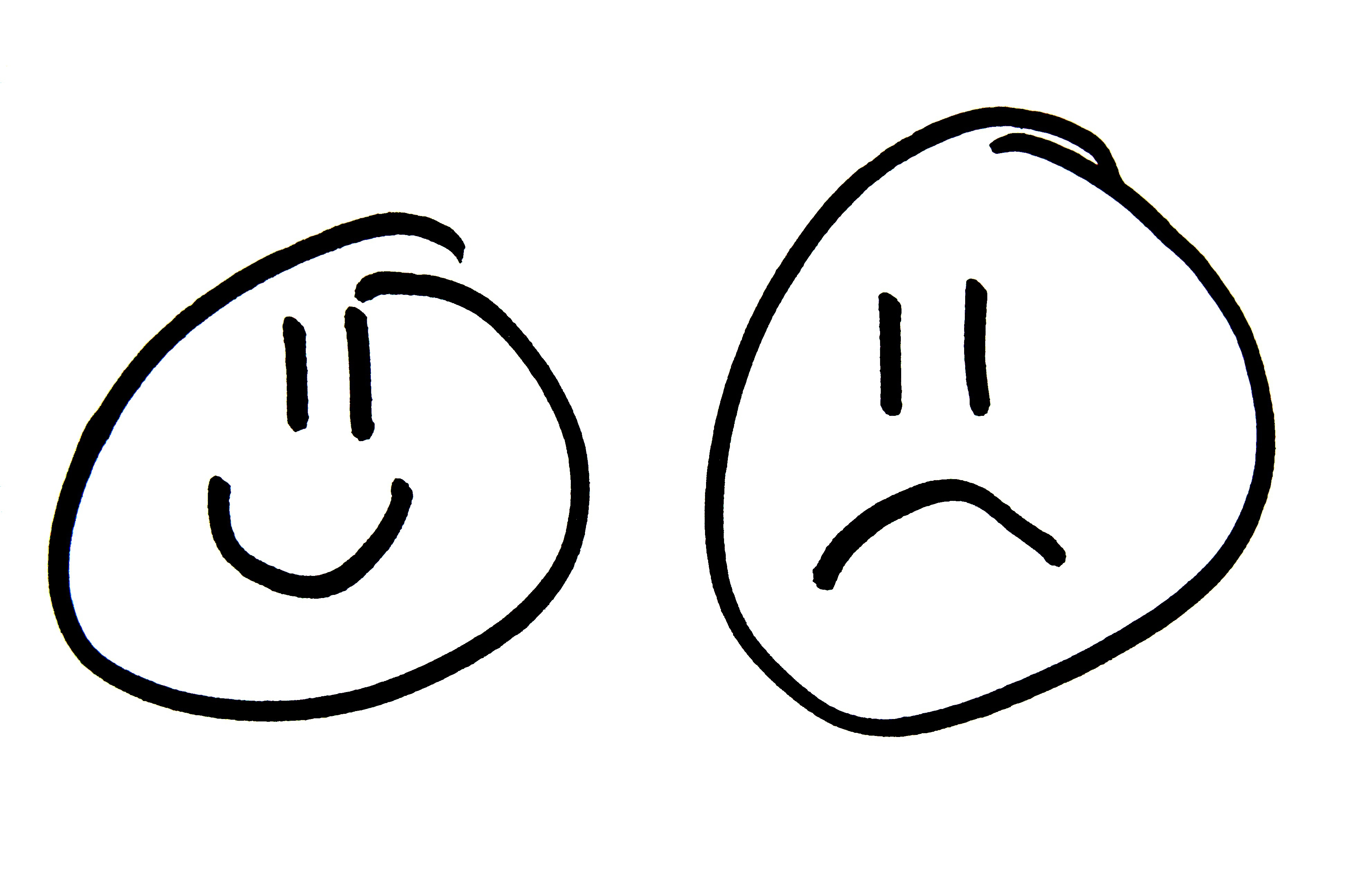 3888x2592 Sad Face Smiley Face Clipart Black And White Free Clipart