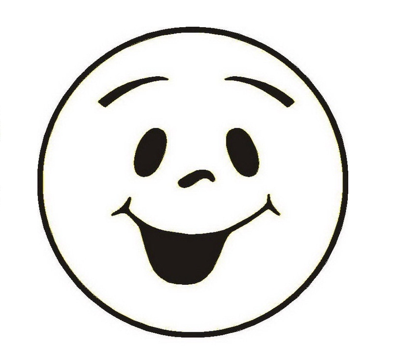 845x749 Smiley Face Clip Art Black And White