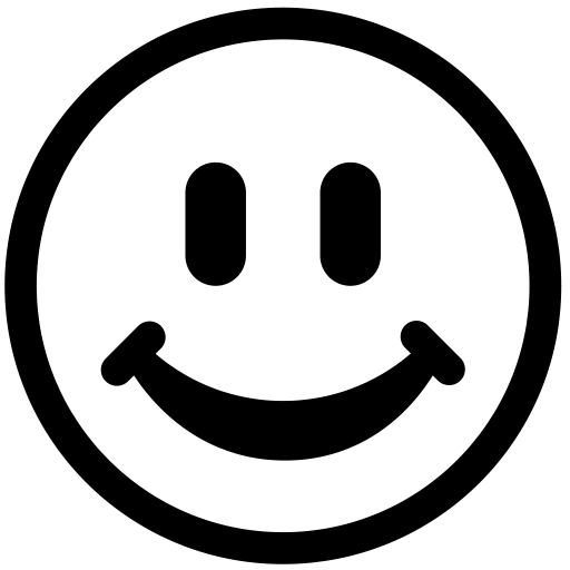 512x512 Smiley Face Clip Art Black And White