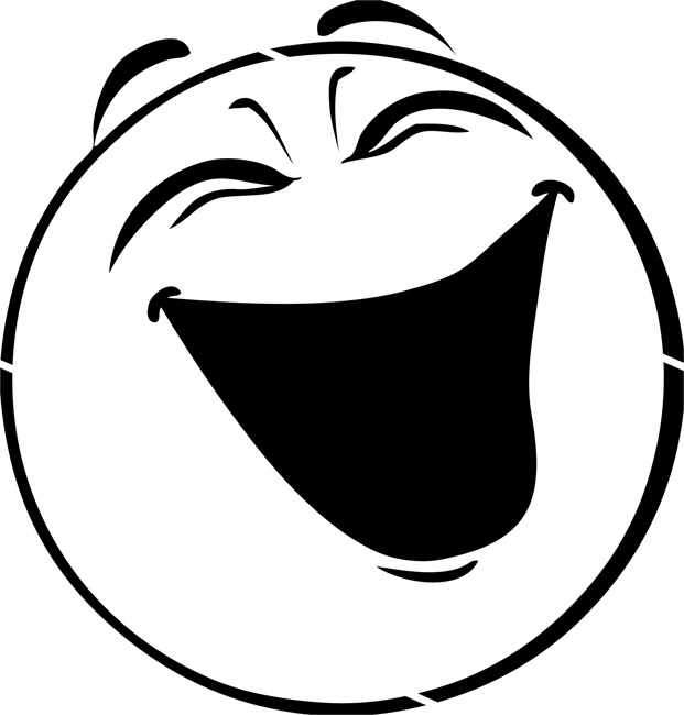 621x650 Smiley Face Black And White Laughing Face Clip Art
