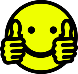 300x282 Smiley Face Clip Art Thumbs Up Free Clipart Images 4