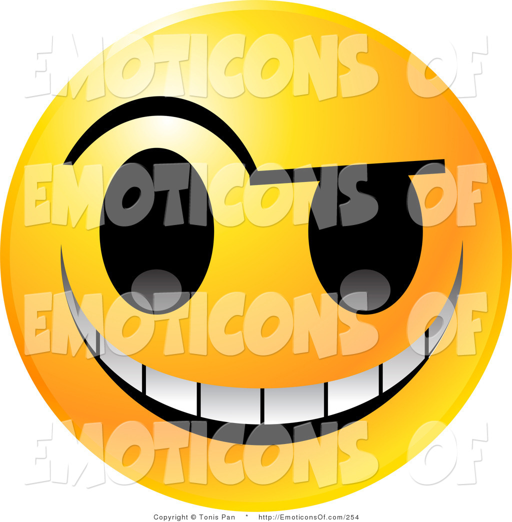 1024x1044 Clip Art Vector Of A Yellow Emoticon Face With An Evil Mischievous