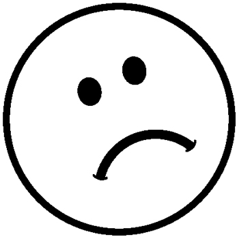 350x350 Smiley Face Black White Sad Face Smiley Clipart Black