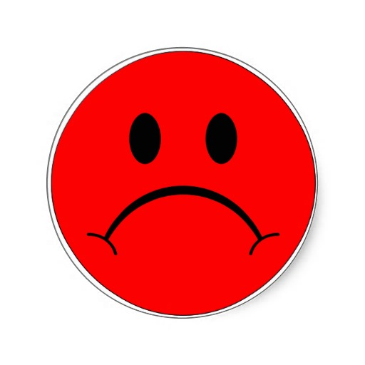 512x512 Red Sad Smiley Face Clip Art