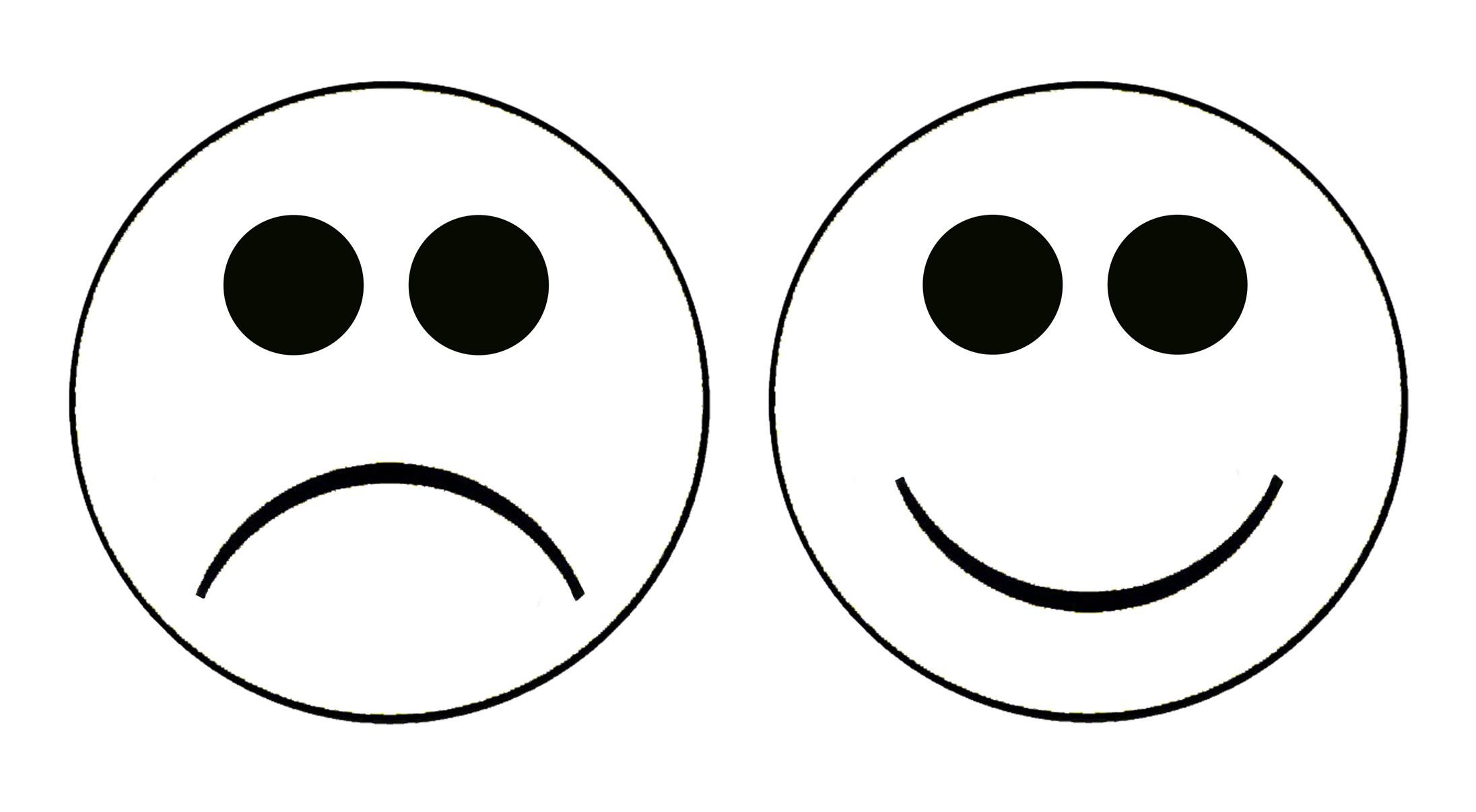 2192x1206 Best Free Smiley Face Sad Clipart Cute Design