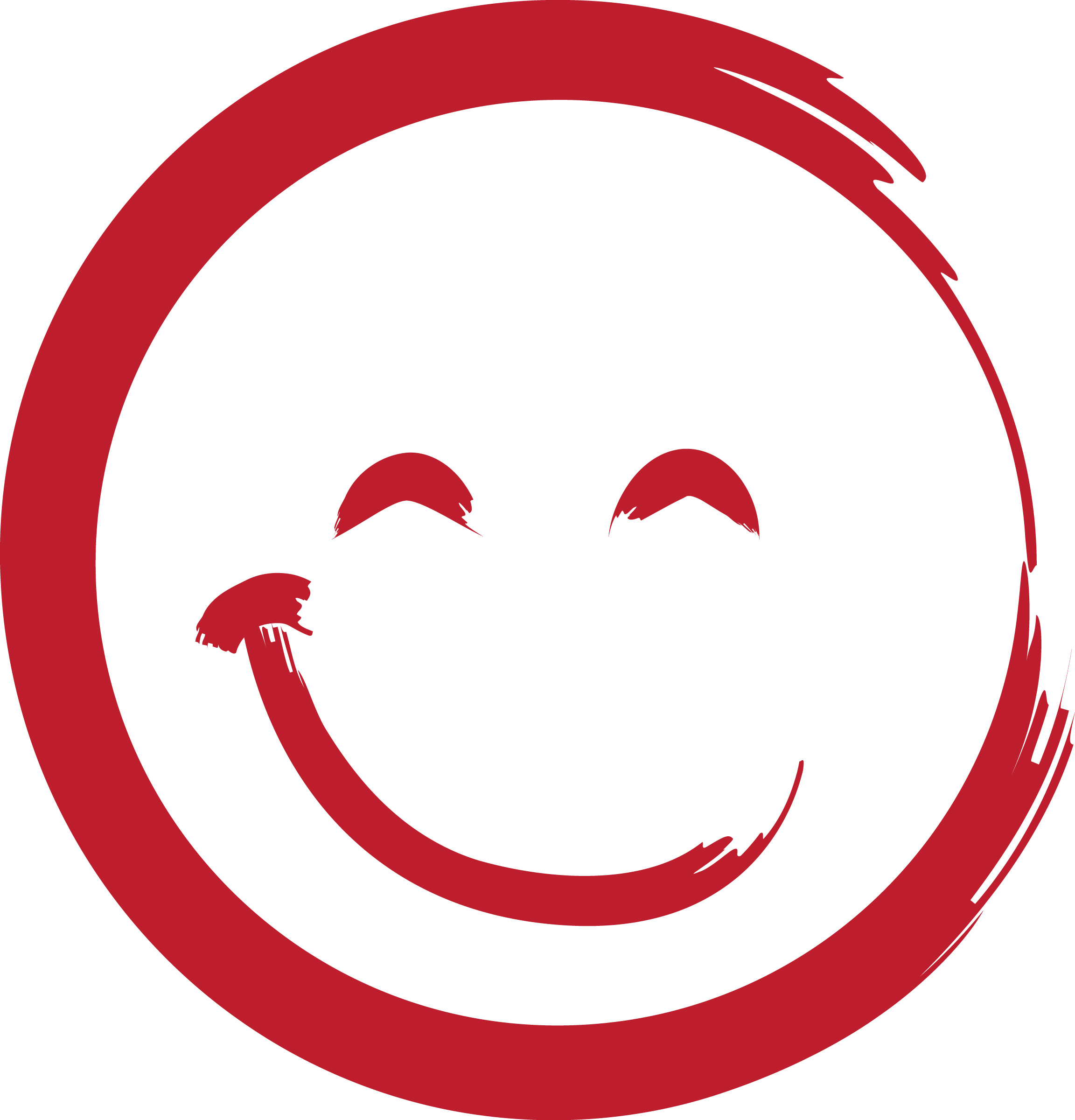 2304x2400 Red Smiley Face Clipart