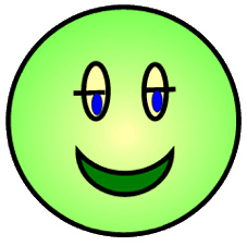 227x226 Smiley Clipart Green