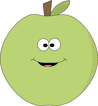 316x344 Apple Clipart Smiley Face