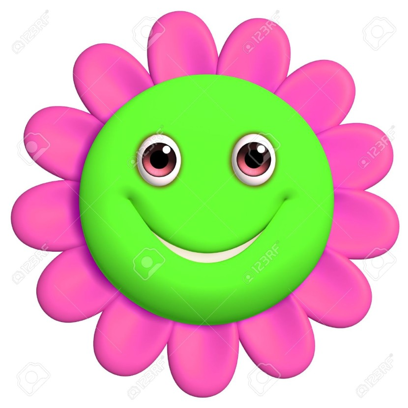 830x830 Smiley Face Flower