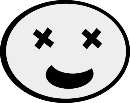 425x337 Clipart drunk smiley face