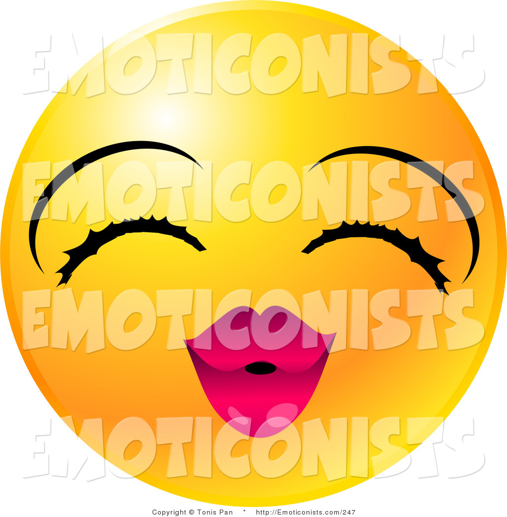 1024x1044 Clip Art Of A Yellow Emoticon Face Girl With Eyelashes And Pink