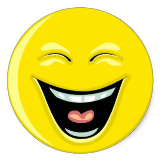 324x324 Happy Smiley Face Laughing Stickers Zazzle.co.uk