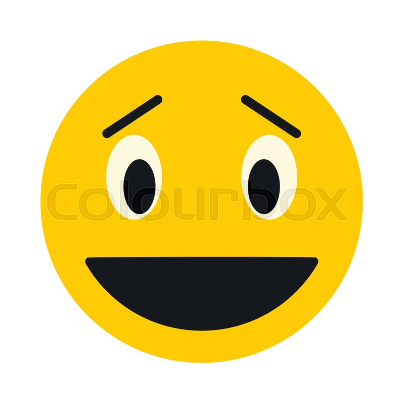 800x800 Laughing Smiley Face Icon In Flat Style Isolated On White
