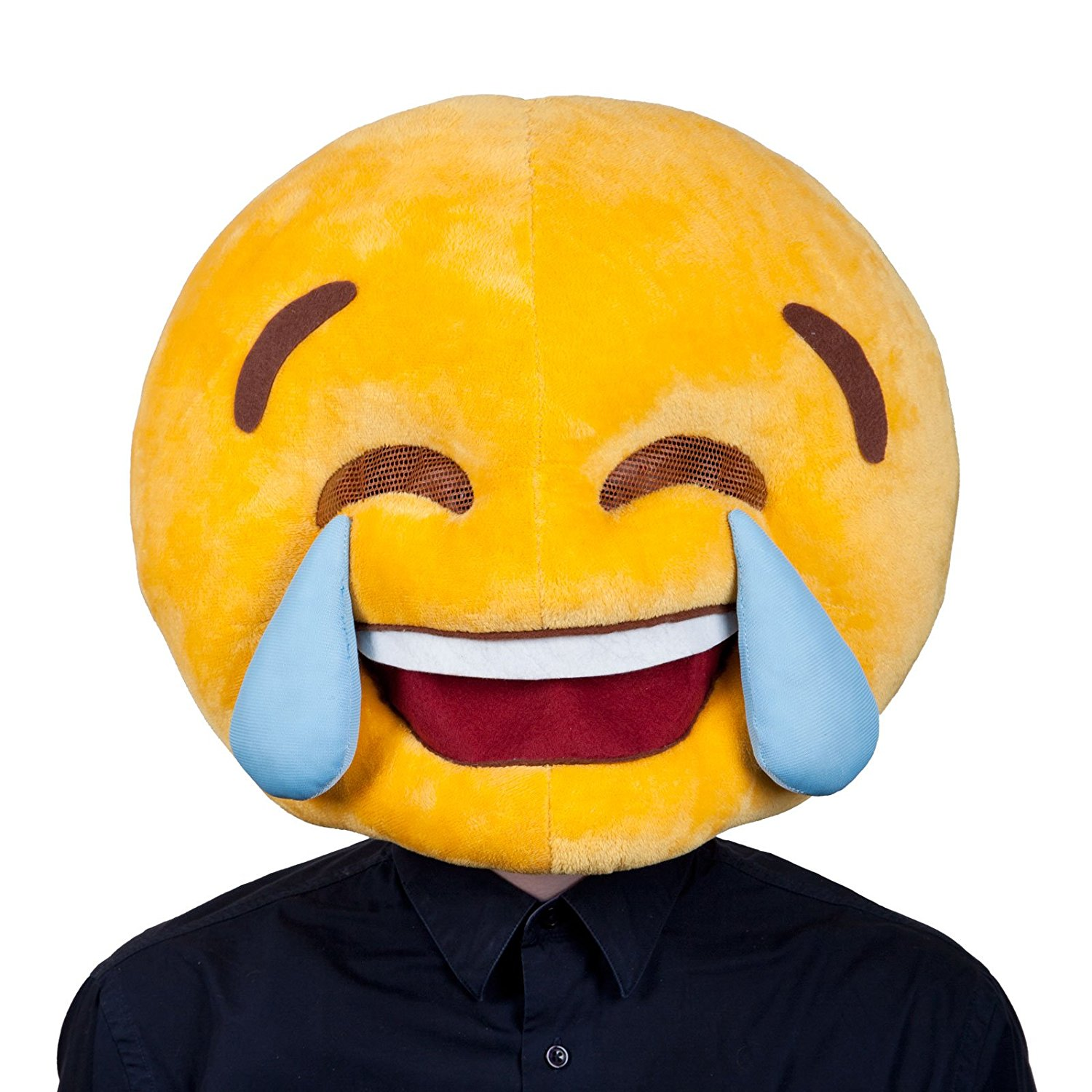 1500x1500 Adults Plush Cry Laughing Emoticon Emoji Smiley Face Funny Head