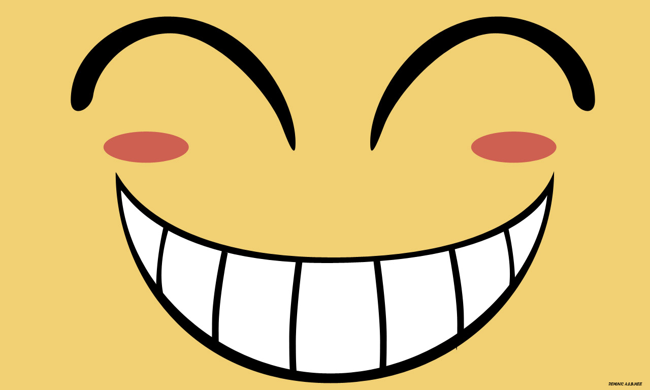 1280x768 Smiley Face Clipart Print