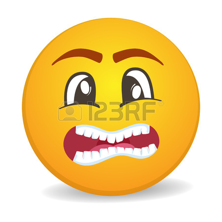 450x450 Surprised 3d Round Yellow Smiley Face Vector Icon. Funny Facial