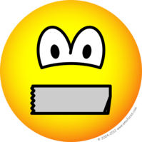 199x199 Duct Taped Mouth Emoticon Emoticons @