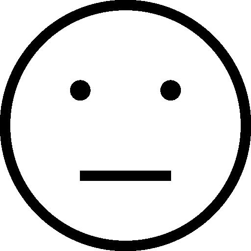 512x512 Emoticon Neutral Face Outline