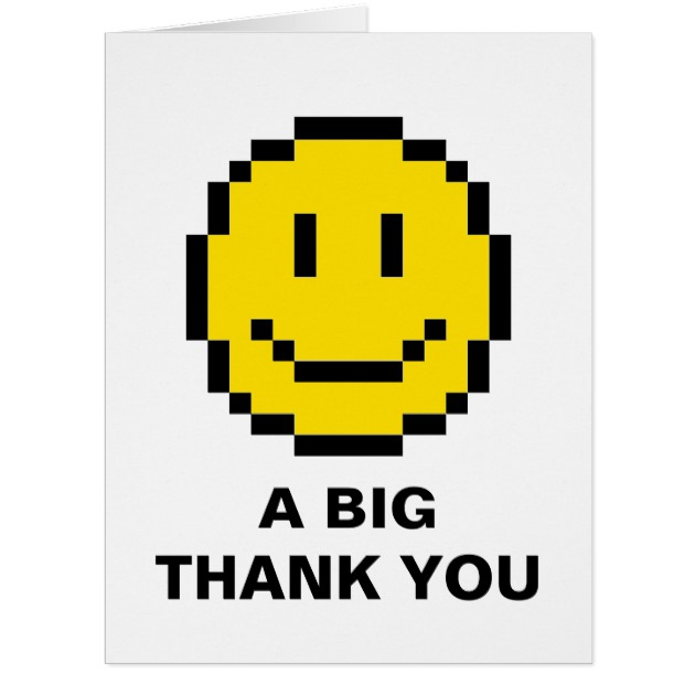 630x630 Oversized Big Thank You Yellow Smiley Face Card