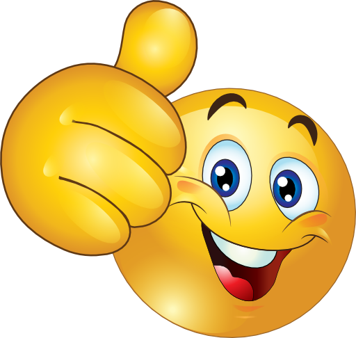 512x486 Female Thumbs Up Smiley Face Clipart