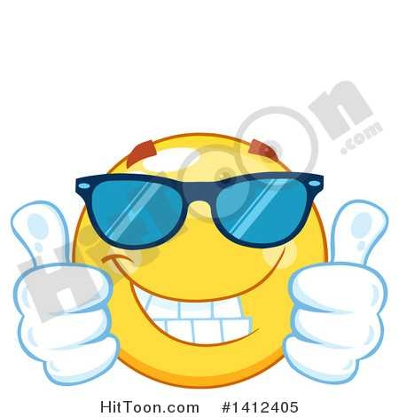 450x470 Smiley Face Thumbs Up Cartoon