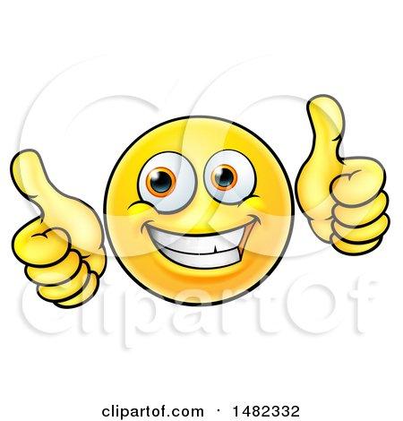450x470 Clipart Of A Cartoon Happy Yellow Emoji Smiley Face Emoticon