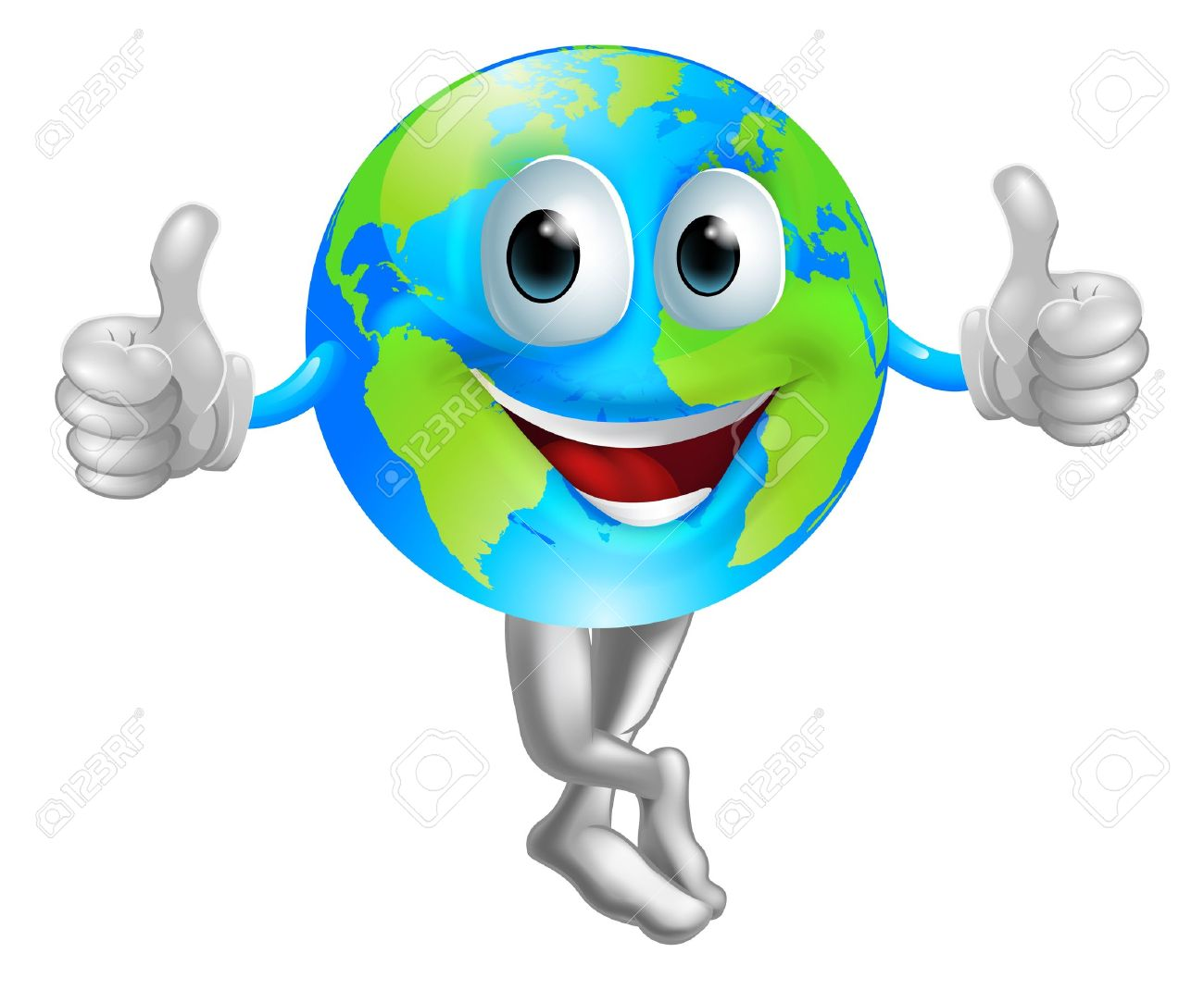 1300x1070 A Cartoon Globe Mascot Man With A Happy Face Doing A Thumbs Up