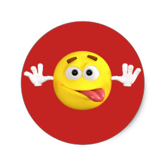 324x324 Smiley Face Sticking Tongue Out Stickers Zazzle