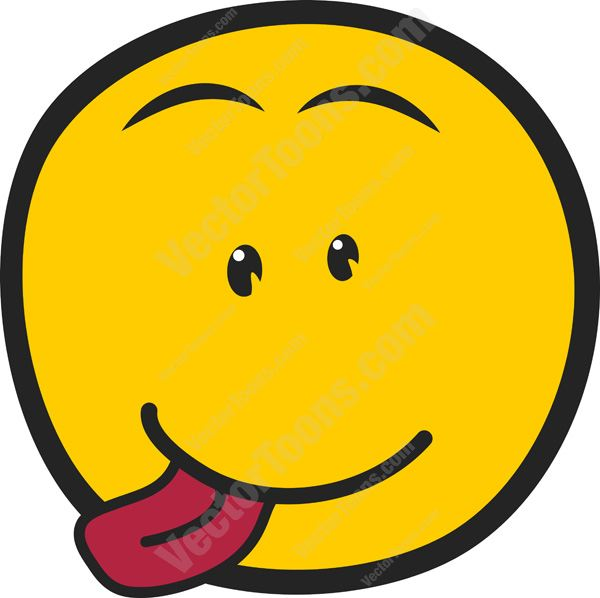 600x598 Smiley Faces With Tongue Out