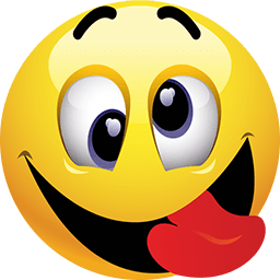 256x256 Smiley Face Sticking Tongue Out