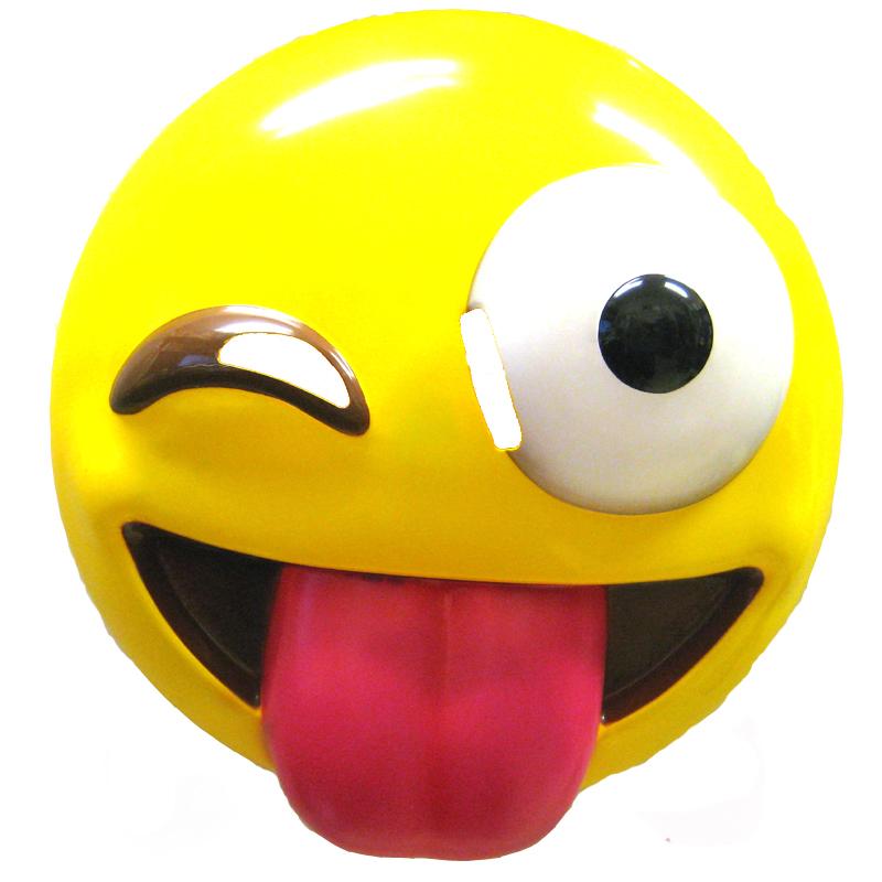 800x800 Costume Smile Face Tongue Out Wink Emoji Masks