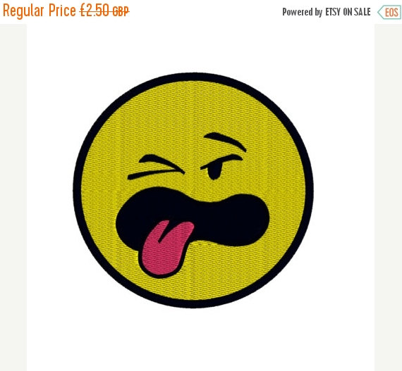 570x527 Emoji Symbol Smiley Face Tongue Out Machine By Zebrakingstitches